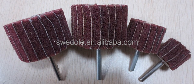 the top products non-woven flap wheel with shank for metal and wood