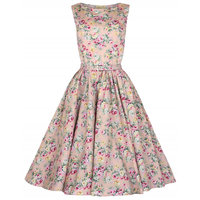 MIKA6020 Women fashion floral print vintage party dress