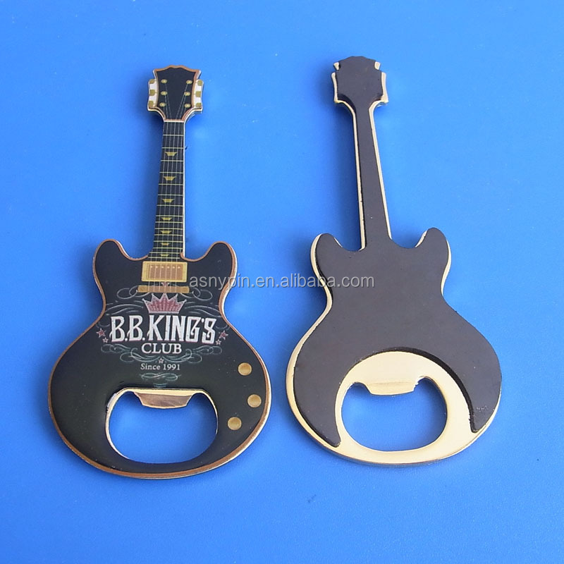 Fashional guitar shaped music bottle opener, wholesale metal products