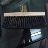 house cleaning wooden floor brush