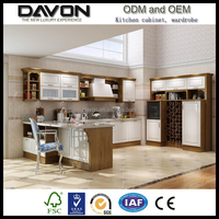 China factory classic style wood pvc shaker l shaped modular kitchen cabinet simple design for small kitchens