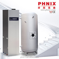 Anti-frost protection heat pump combination solar heat system.