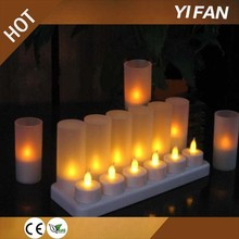 12Pcs Rechargeable Tealights With Base