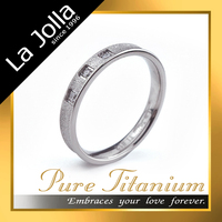 Like star in your heart lover gift cubic zircon pure titanium ring