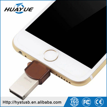 2016 OEM Custom Pendrive OTG 8GB 16GB 32GB 64GB 128GB Metal OTG USB for iPhone iPad IOS Android