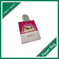OEM Custom Printed Logo paper bag kraft food grade rope handle