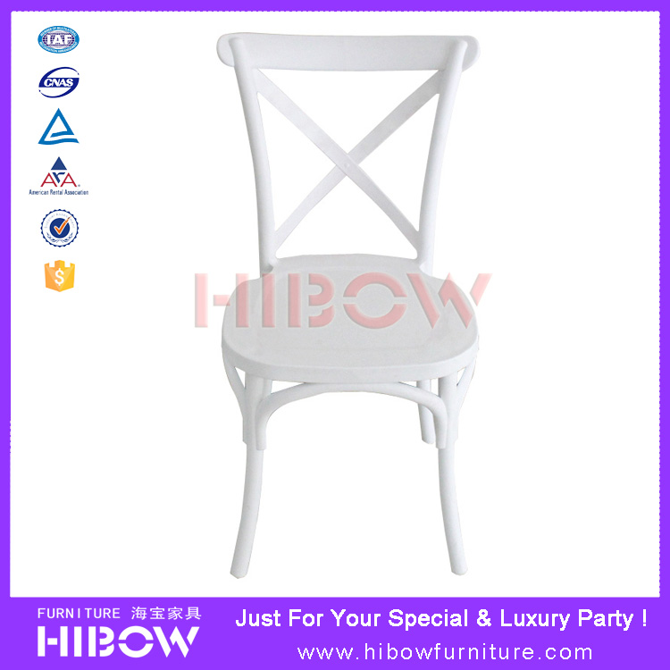 Hibow Furniture Monoblock stacking cross back chair H011