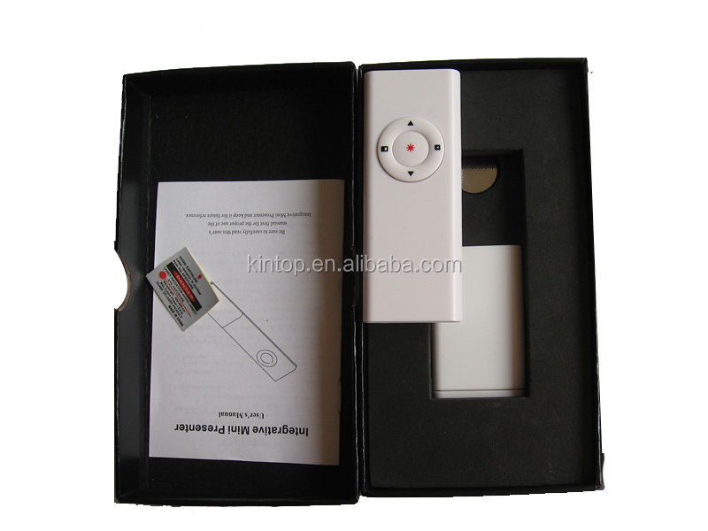 RF presentation remote control wireless presenter with USB receiver
