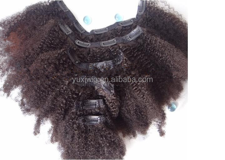 2017 AFRO KINKY CLIP IN EXTENSIONS FOR NATURAL 4A 4B 4C HAIR