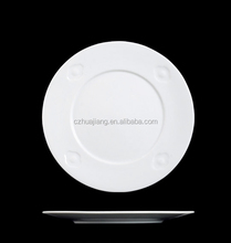 Wholesale hotel restaurant white dinner porcelain round plated,ining plate set