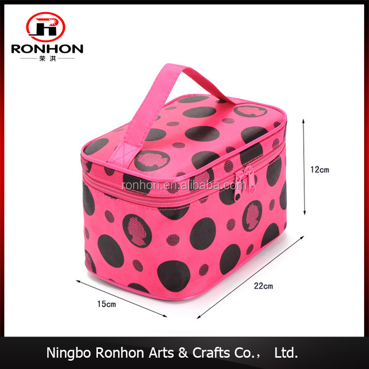 China Manufacturer cheap canvas cosmetic bag promotional toilet bag for make up