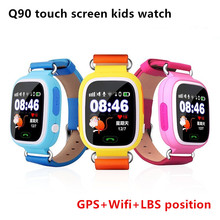 child Q90 Touch Screen WIFI Smart phone wrist tracker Watch Location Finder Device GPS Tracker watch for Kids Anti Lost Monitor