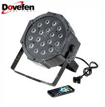 DMX512 7*9W LED Mini Par Light RGB Ultra Thin Plastic Housing Can Light