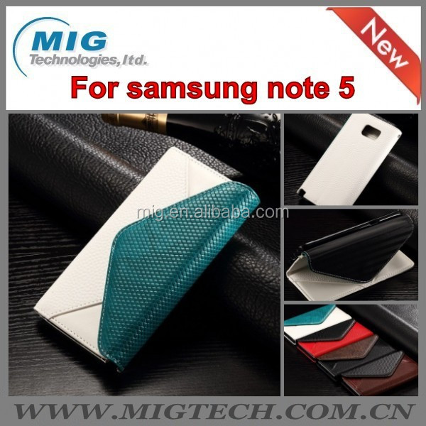 For Samsung Note 5 leather case <strong>Phone</strong> case For Samsung galaxy Note 5 Fashion Envelop Type Card Slot Photo Frame Leather Case