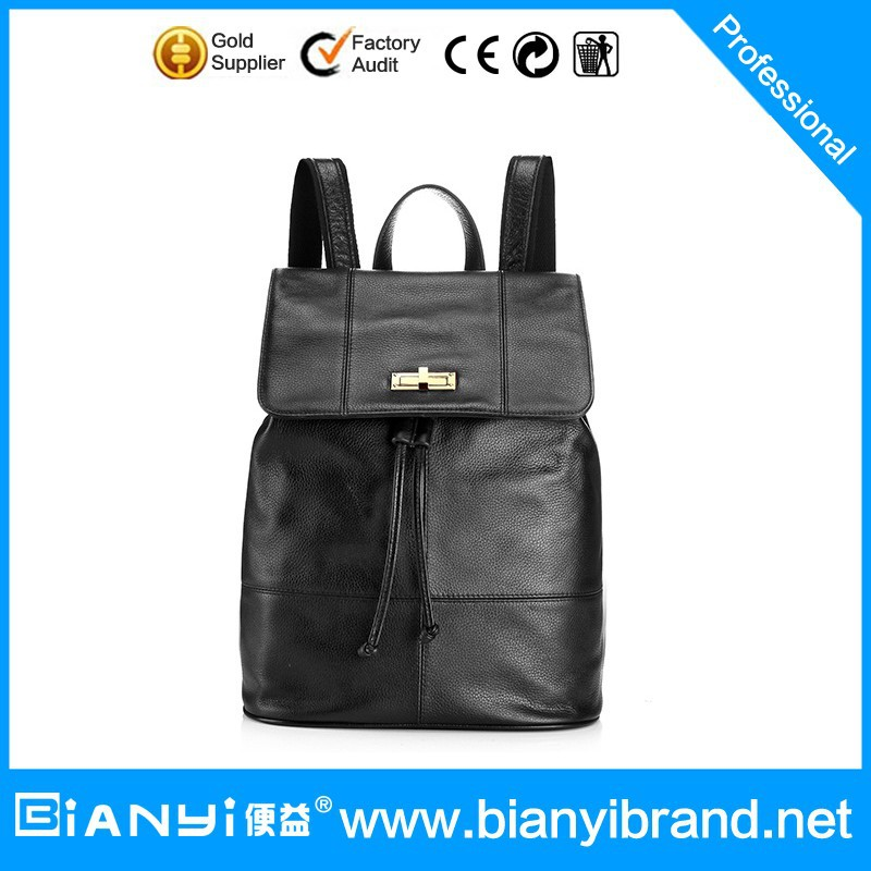 2016 women genuine leather tote bag / leather lady hand bag