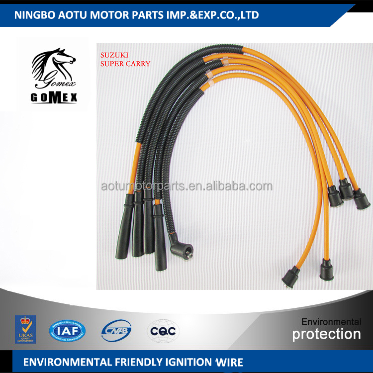 High voltage silicone Ignition wire set, ignition cable kit, spark plug wire for SUZUKI SUPER CARRY for Pakistan