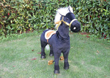 Battery Operated Walking Animal Toy Ride for Kids, Baby Ride on Plush Horse Toy