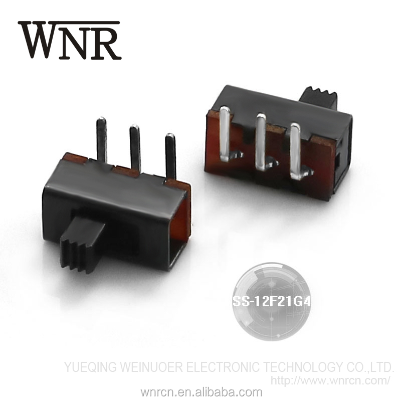 China supplier sale electronic toggle switch,vertical 2 way slide switch SS-12F21G4