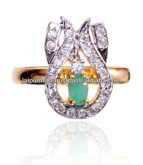WHOLESALE JEWELRY NEW DESIGN LADIES CRYSTAL FINGER RING