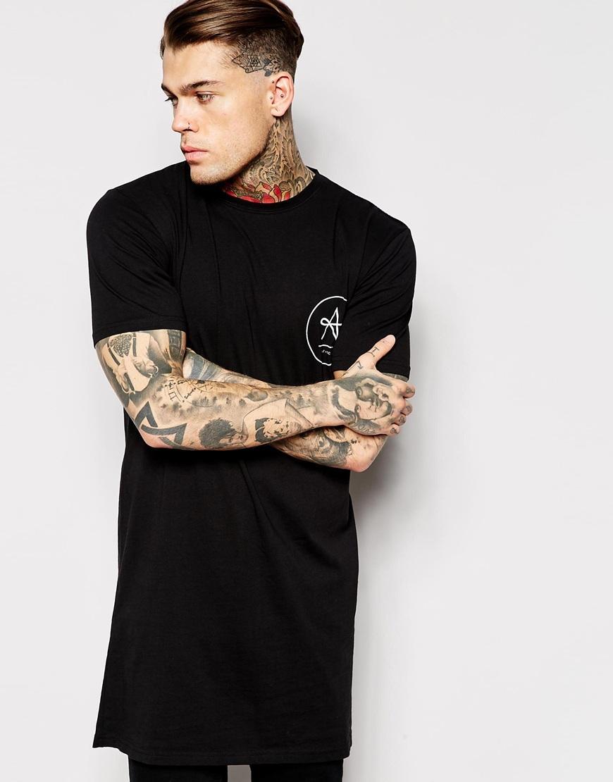 Design your own t shirt logo - Mens Hip Hop Clothing Custom T Shirt Printing Design Your Own Logo Longline T Shirt Retail