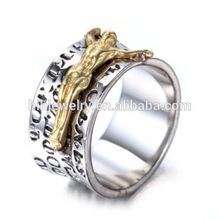 stainless steel embossed bible religion faith jewelry christian engraved jesus ring