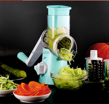 Wholesale Round Mandoline Slicer Vegetable Cutter Chopper Potato Carrot Grater Slicer with 3 Stainless Steel Blades Kitchen Tool