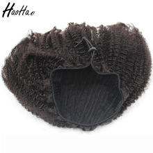 Drawstring Afro Curly 100% Human Hair Ponytail