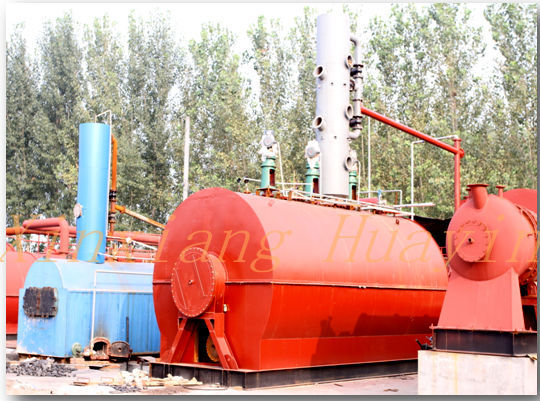 Waste Black Oil Recycling Purify Distillation Machine