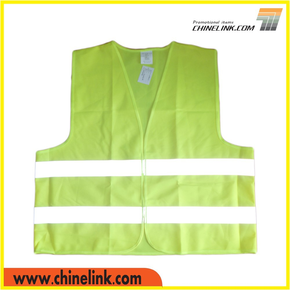 Heat transfer printed yellow safety vest wholesale professional manufacture