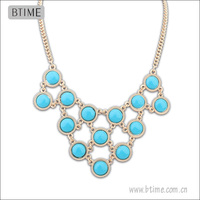 Colorful Lucit Charm Statement Necklace/titanium necklace making