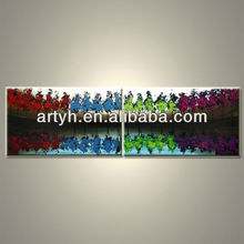 Latest designs colourfule trees large abstract paintings on canvas