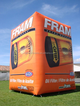 Inflatable giant cube for advertisement/helium cube balloon for promotion