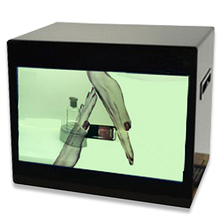 Transparent lcd display monitor