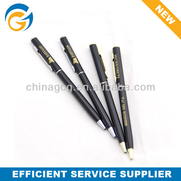 Sliver Cheap Price Slim Metal Ball Pen