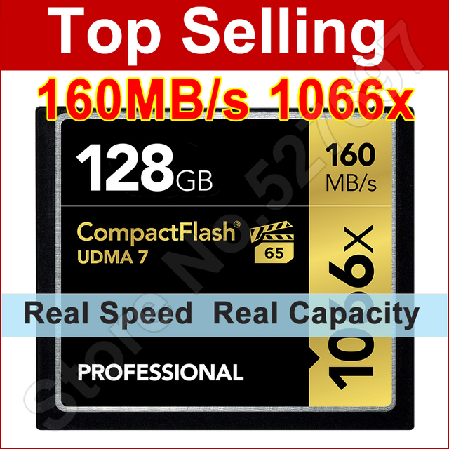 Real Capacity cf card 128GB 64GB 32GB 16GB 256GB Memory Card Compact Flash UDMA7 High Speed 1066x 160Mb/s  Hot Sale