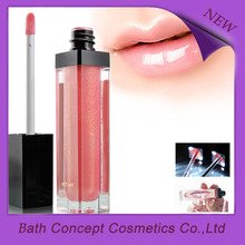3D effect shine glitter colored flavored OEM light up lipgloss
