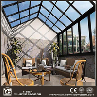 Top Prefabricated Aluminum Glass House Veranda Sunroom