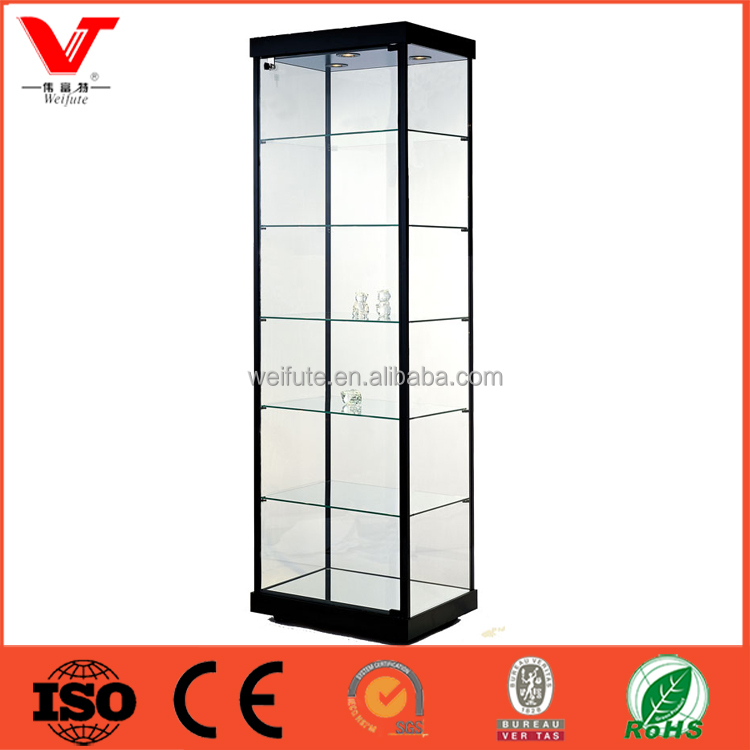 High quality clear glass Crystal doll model display cabinet