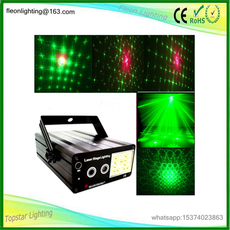 factory price promotion dj controller led disco party mini laser light Red and green laser + white strobe