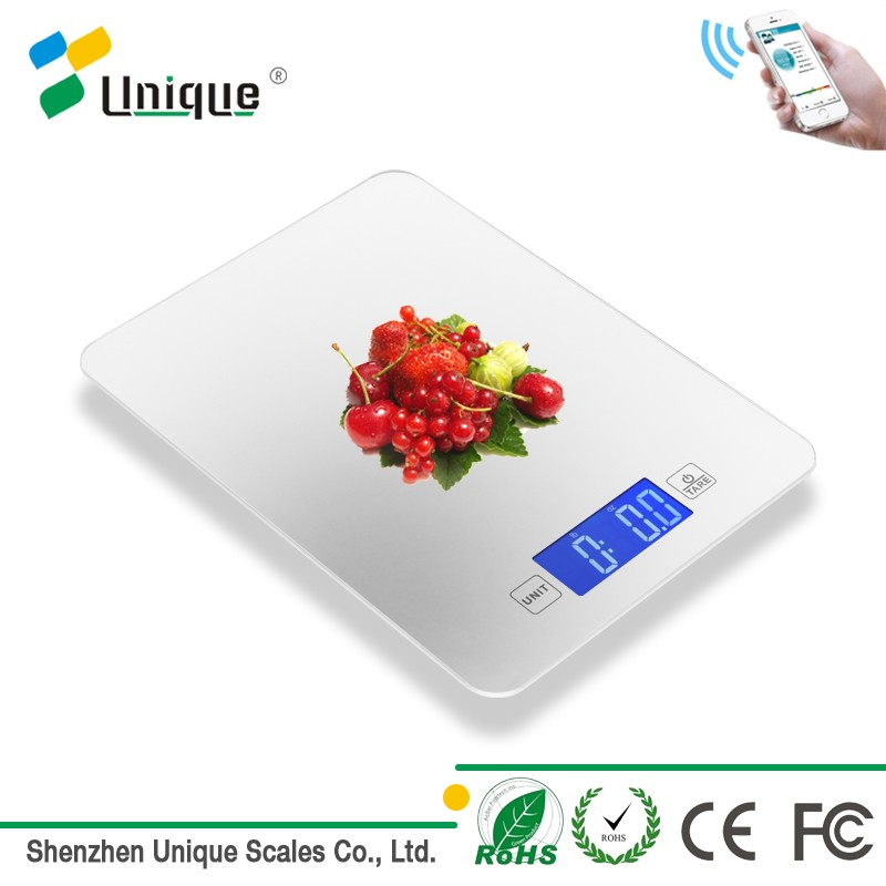 ultra slim lcd table precision tablet bluetooth kitchen food weighing scale