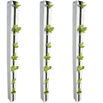 Factory price PVC vertical hydroponic growing pipe/channel/container