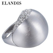 Round Ball Rhinestone Scrubs Surface big unisex ring 2015 promotions woman brand fashion rings rock accessories AR00042