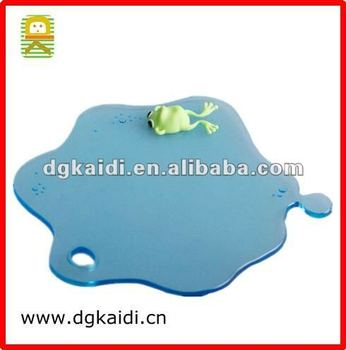 Water Drop Coaster, PVC/ Silicone Coaster with Frog