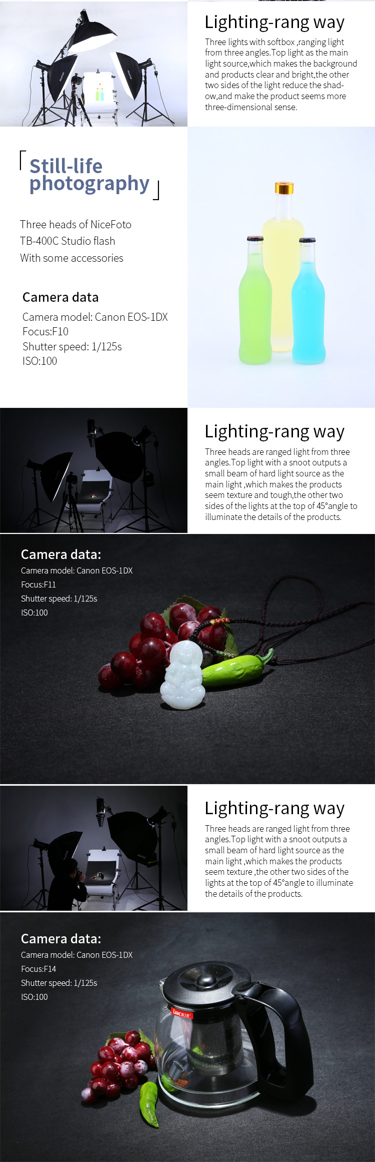 TB-400C NiceFoto Studio Equipment Studio Flash Lighting Strobe flash Camera photo  flash Photographic equipment
