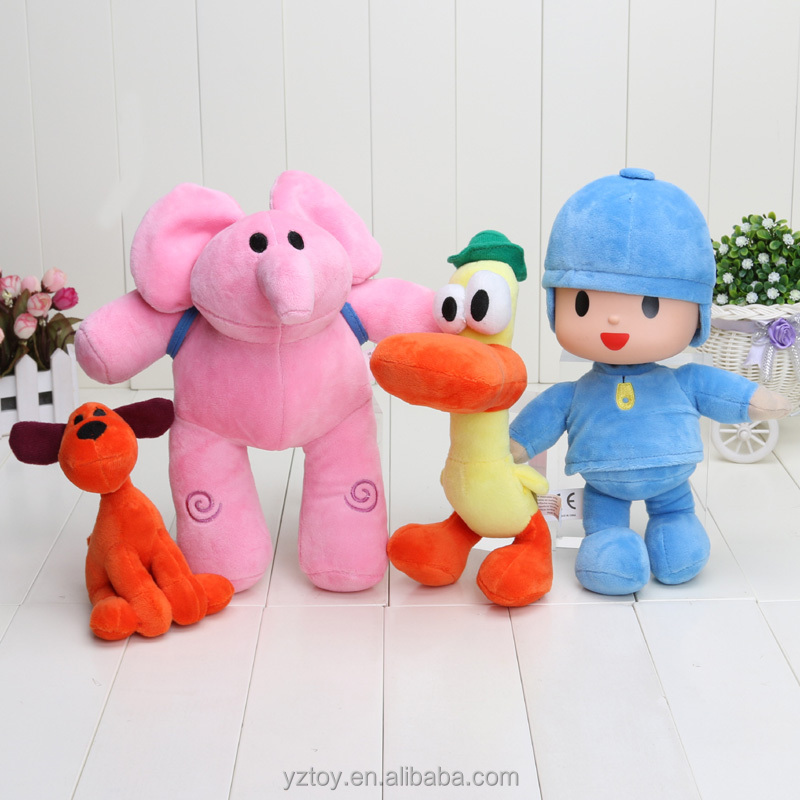 POCOYO Cartoon Stuffed <strong>Animals</strong> & Plush Toys Hobbies Loula & Elly & Pato & POCOYO plush toys doll