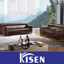 Recliner sectional buffalo leather sofa