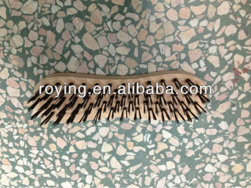 High quality round carbon steel wire brush scrub brush