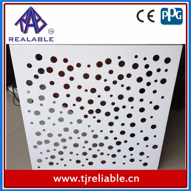 Round Hole Aluminum Perforated Ceiling for Hall Decoration