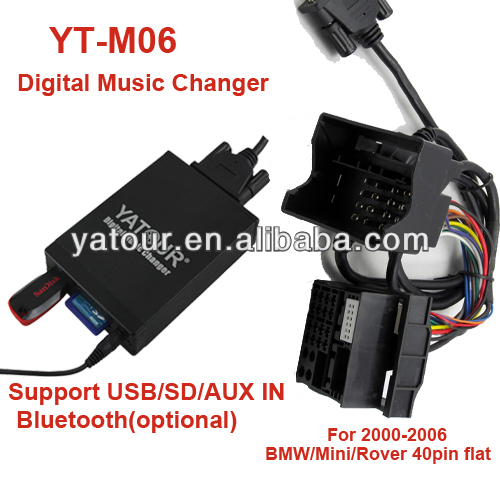 Yatour Vcarlink YT-M06 Digital Music Changer MP3 kit player for BMW>Car USB/SD/AUX/Bluetoot kit
