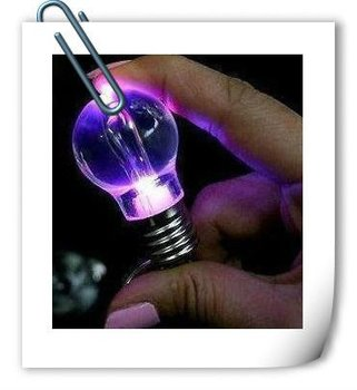 Cute Color Changing LED Flashlight Light Bulb Lamp Keychain Lamp Torch